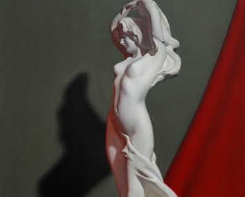 Lady with Red Cloth